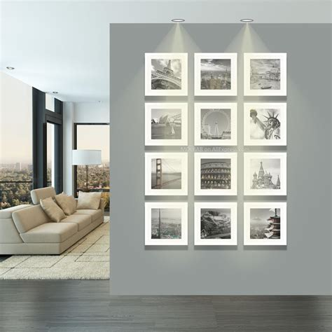 12 pcs reality wood picture photo frame wall set art work aliexpress com buy modern square photo wall white frames