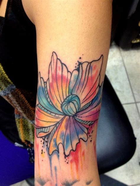 watercolor tattoo flower designs watercolor flower rata tata