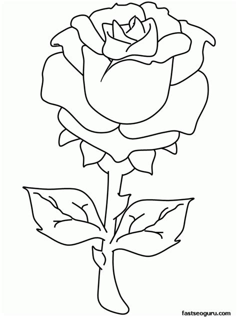 rose coloring pages pdf rose coloring pages to print free printable coloring