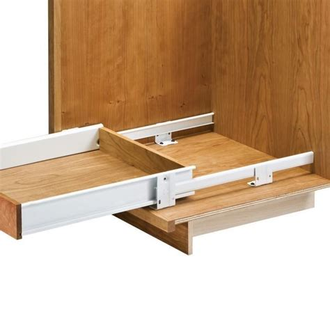 Pantry Slides Hardware by Floor Mounted Drawer Slides With Metal Sides Rockler