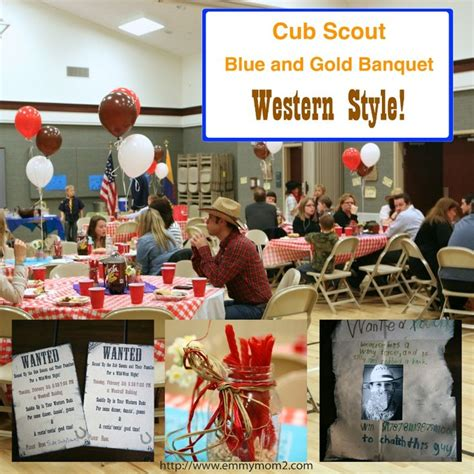A Western Themed Cub Scout Blue And Gold Banquet | cub scout blue gold western theme games decor food