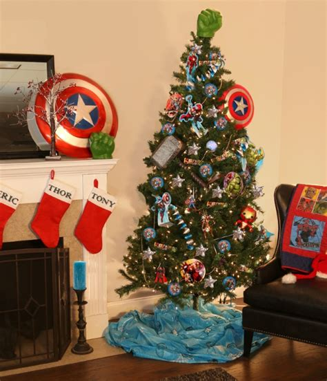marvel avengers theme christmas tree pop culture