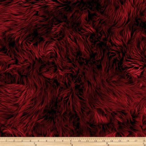 shannon faux fur luxury shag maroon discount designer