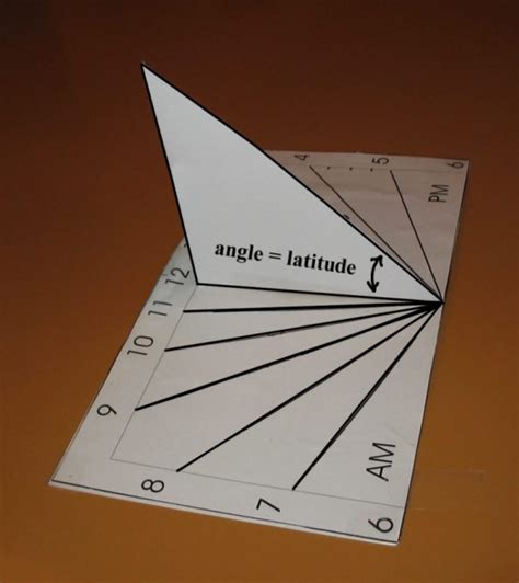 How To Make A Sundial Out Of Paper - sundial templates for crafts