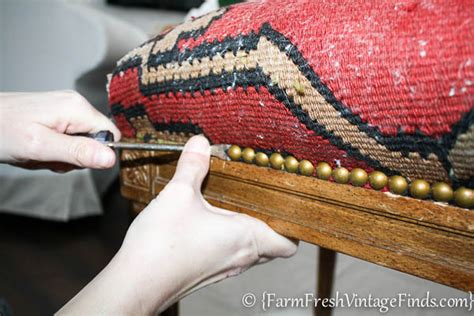 how to upholster a bench how to easily reupholster a bench farm fresh vintage finds