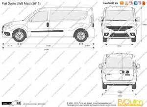Fiat Doblo Size The Blueprints Vector Drawing Fiat Doblo Lwb Maxi
