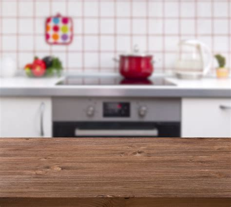 kitchen background wooden table on kitchen bench background