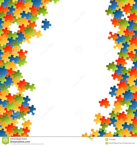 colorful puzzle pieces puzzle pieces colorful background stock vector image