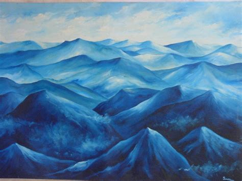 blue painting painting blue mountains buy painting product on alibaba
