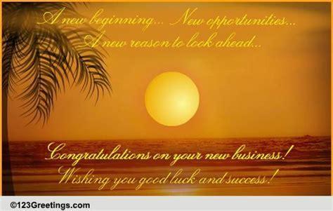 A New Business Venture! Free Congratulations eCards