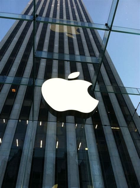 apple company building office company logo apple
