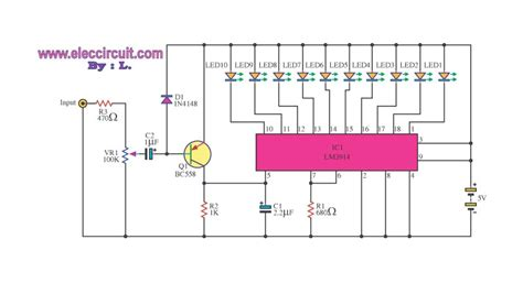 led running display circuit diagram led light based circuit with lm3914 circuit diagram