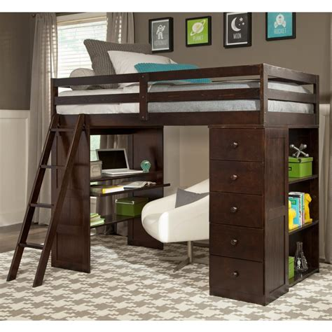 loft bed with desk and drawers bedroom gorgeous loft bed with desk and storage as a