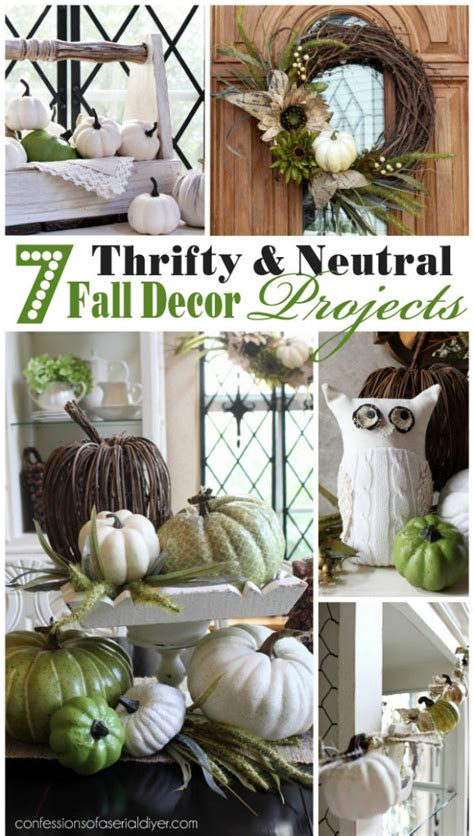 Thrifty Home Decor 7 Thrifty Neutral Fall D 233 Cor Projects Confessions Of A Serial Do It Yourselfer