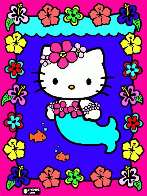 hello kitty mermaid wallpaper hello kitty mermaid coloring pages