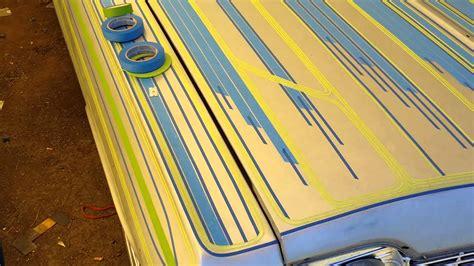 lowrider pattern paint jobs lowrider paint patterns on my 1964 impala youtube