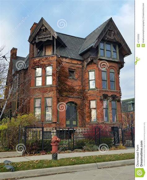 How Has House Been On Detroit Brick Home Editorial Image Image