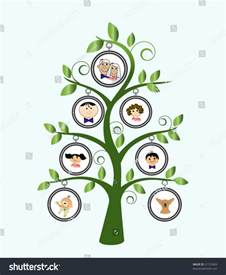 family tree cartoon family stock vector 51157609