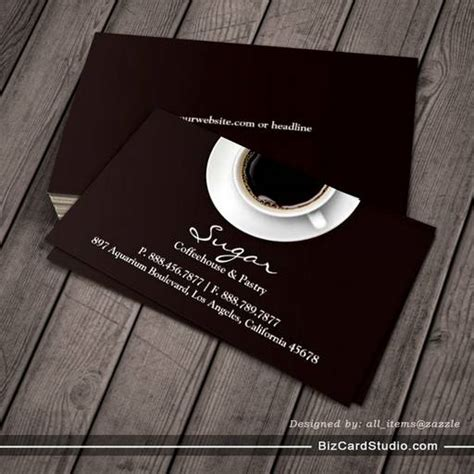 coffee business card template free business card templates studio