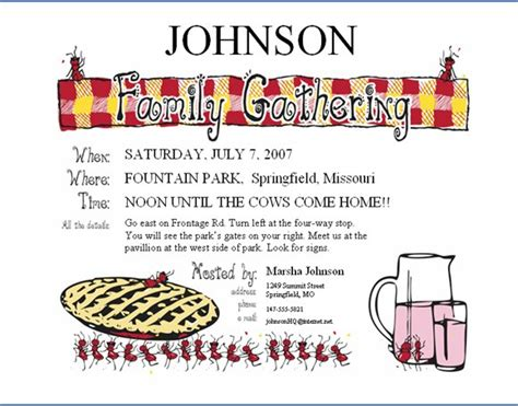 family invitations 17 family reunion invitations ideas