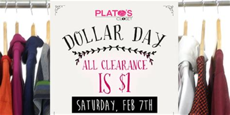 1 clearance sale at plato s closet on saturday