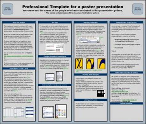 Ppt Professional Template For A 70cm X 100cm Poster Presentation Powerpoint Presentation Id Poster Presentation Template 48x36