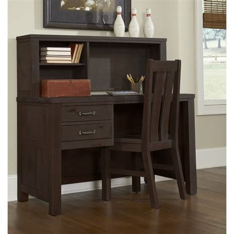Kid Desk L Ne Highlands Desk With Hutch In Espresso 11540ndh