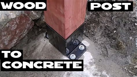 How To Attach Wood Post To Concrete Floor   Carpet Vidalondon