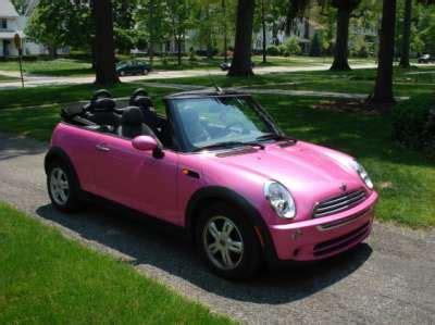 pink mini car pink mini cooper convertible ebay auction pinkcarauction