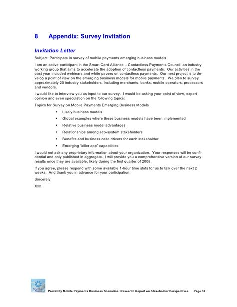 Letter Of Invitation To Research Smart Card Alliance Mobile Payment Business Model Research Report O