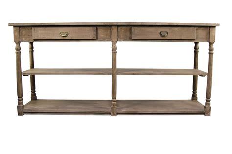 meuble console drapier bois 2 tiroirs 190x54x87cm
