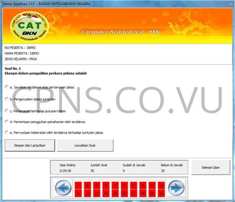 software simulasi cpns resmi dari bkn badan