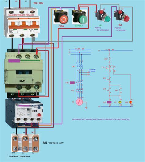 un contactor a botoneras esquemas el ctricos apexwallpaperscom esquemas el 233 ctricos arranque motor trifasico con
