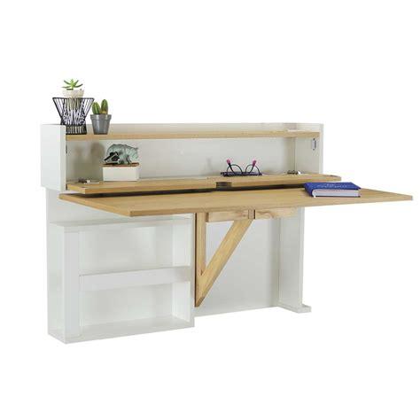 bureau bois fonc bureau 100 cm bureau stan 100 cm blanc bois 502208 achat
