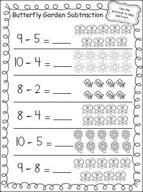 Buku Boardbook Anak Aktivitas Belajar Membaca My Abc butterfly garden subtraction worksheet subtraction worksheets worksheets and butterfly