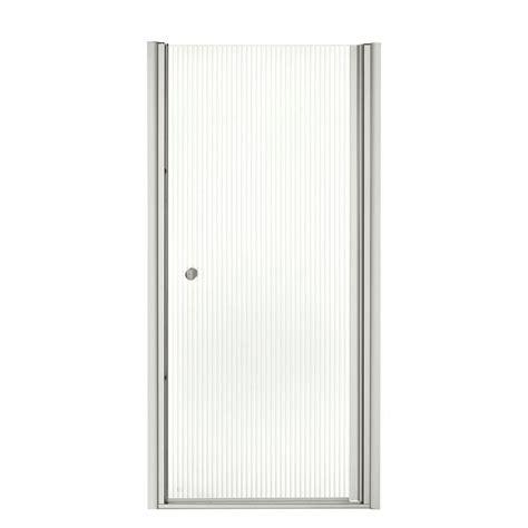 Kohler Shower Door Seal Kohler Fluence 32 3 4 In X 65 1 2 In Semi Frameless Pivot Shower Door In Matte Nickel K 702404