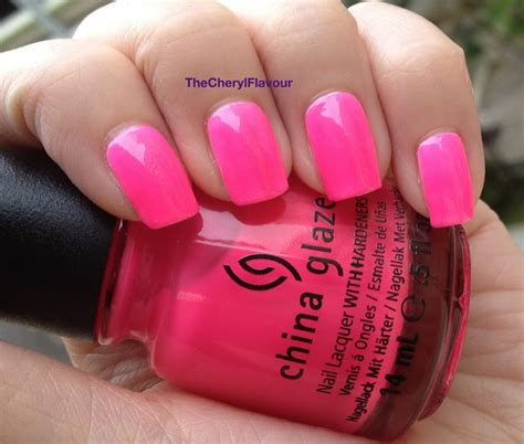 China Glaze Heat Index the cheryl flavour china glaze neons on the shore sunsational jelly swatches