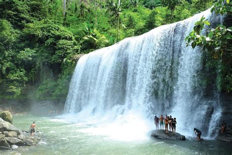 the drapery falls cawan curtain falls davao region s widest waterfall