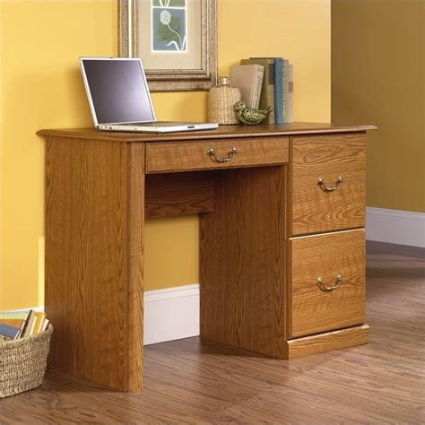 Small Wood Desks Orchard Small Wood Computer Desk In Carolina Oak Finish 401562