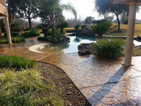 pool deck renovations houston concrete staining