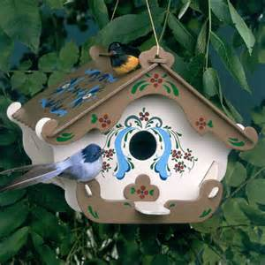 wooden bird house the swiss inn birdhouse kit