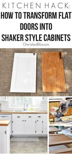 Flat Kitchen Cabinet Doors Makeover Kitchen Hack Diy Shaker Style Cabinets Shaker Style Kitchen Hacks And Style