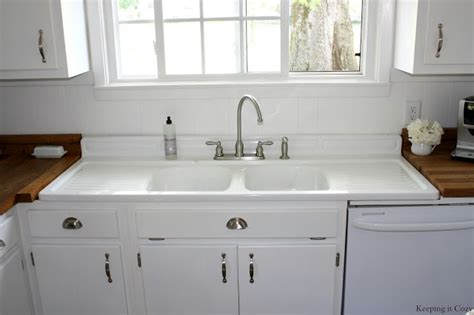 Kitchen Sinks With Backsplash Sinks Interesting Farmhouse Sink With Drainboard And