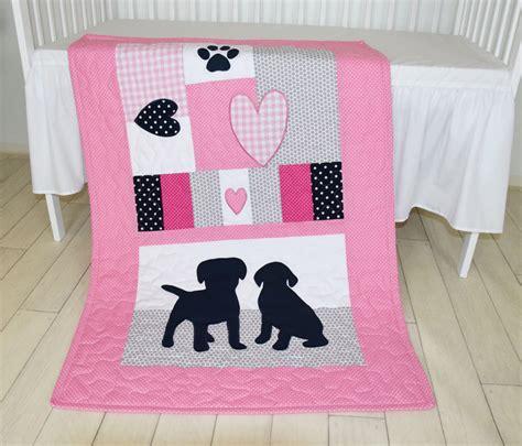 puppy crib bedding puppy baby quilt dog nursery blanket baby girl quilt