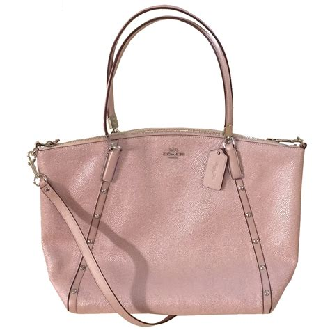 Coach Pabbled Leather Tote snap n zip fashion accessories coach small kelsey