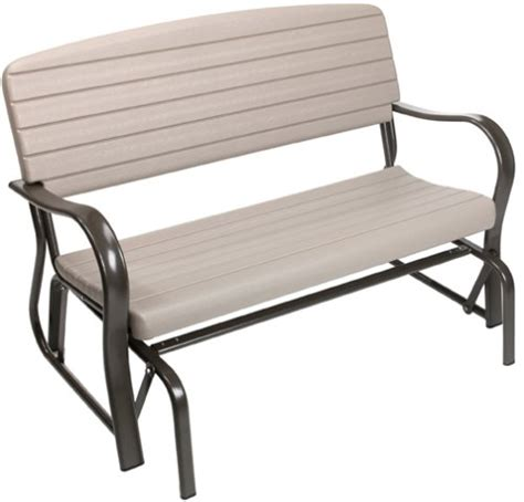 lifetime glider bench lifetime 2871 indoor outdoor glider bench putty reviews5