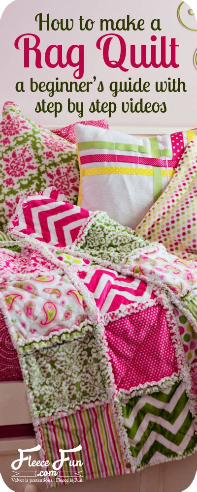 How To Sew A Rag Quilt by 25 Easy Sewing Projects