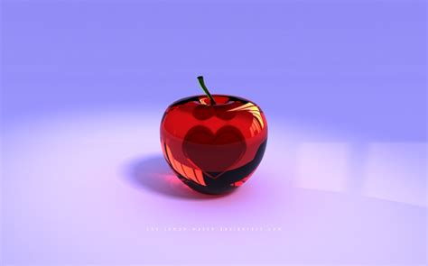 wallpaper apple glass red glass apple with a heart inside wallpaper for pc or mac