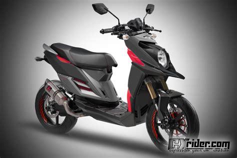 Tutup Knalpot X Ride Crom Konsep Modifikasi Yamaha X Ride Ttx Cxrider