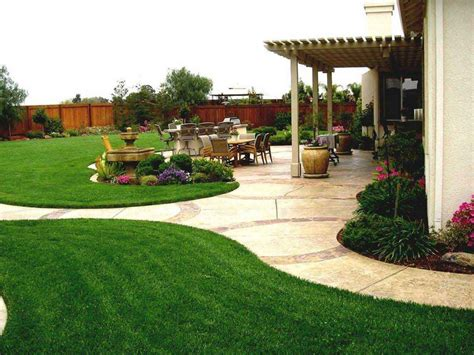 Backyard Themes by Fabulous Simple Backyard Landscape Cheap Landscaping Ideas